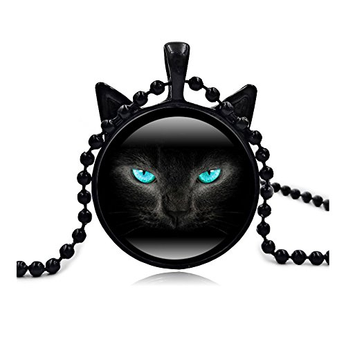 Lovers Lane Cat Costume - Woman Fashion Jewelry Retro Cute Cat Pendent Necklace for Lover Gift?Black?