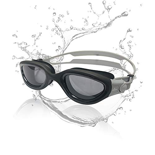 (Cabana Sports Pearl Swimming Goggles. Polarized Swim Goggles with Smoke Lens UV Protection Watertight Anti-Fog Adjustable Strap Comfort fit for Unisex Adult Men and Women, Teenager)