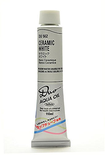 (Holbein Duo Aqua Artist Oil Color (Ceramic White) - 110 ml 1 pcs sku# 1846066MA)