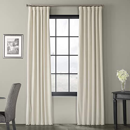 HPD Half Price Drapes VPCH-180103-120 Signature Blackout Velvet Curtain, 50 X 120, Neutral Ground