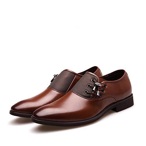 Men Oxford Shoes Black Brown Elegant Shoes Men Casual Dress Shoes Men Brown