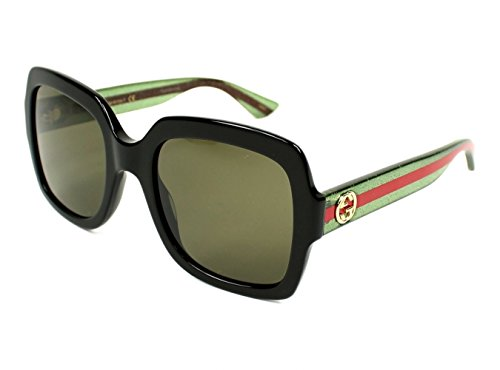 Gucci 0036S 002 Black 0036S Square Sunglasses Lens Category 3 Size - Gucci Black Square Sunglasses