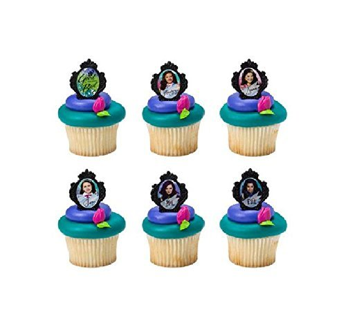 Descendants Good Bad 24 Cake Cupcake Birthday Party Toppers Favors Rings