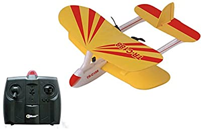 Top Race® C188 Electric 2 Ch Infrared Remote Control RC Biplane Airplane RTF (Colors Vary)