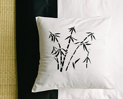 Black and white decorative pillow slip sham cover, small pillowcase 16