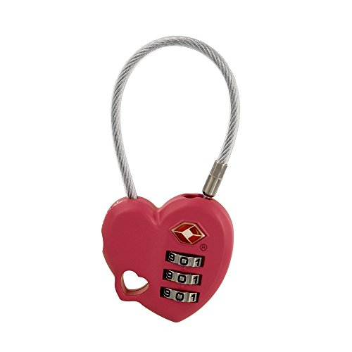 MoDA Travel Easy to Use- TSA Recognized Resettable Combination Lock Luggage Travel Lock