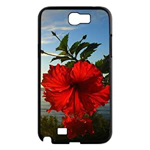Red Hawaii Flower Personalized Cover Case for Samsung Galaxy Note 2 N7100,customized phone case ygtg606056