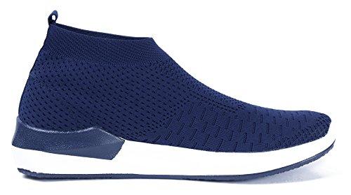 Shoes Dunkel Sneakers Blau Herren AgeeMi Slip Sportschuhe Laufschuhe On Freizeit Bequeme Zqd1Cn