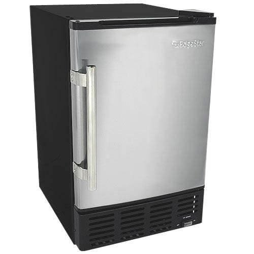 : EdgeStar IB120SS Built in Ice Maker, 12 lbs, Stainless Steel and Black