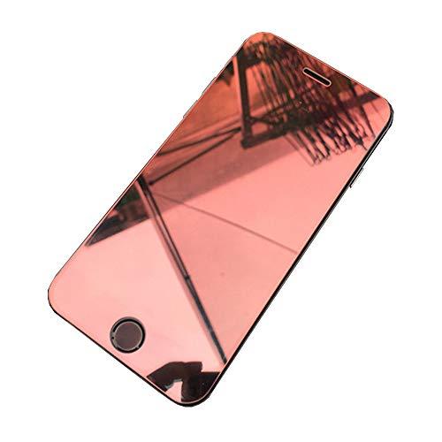 ストレス断片鳴り響くLanjp iphone用 強化ガラスフィルム マジックミラーガラスフィルム 全面保護フィルム カラーフィルム 鏡面効果 反射防止 ミラー 変色 キラキラ光る 高硬度9H 耐衝撃 指紋防止 気泡ゼロ スクラッチ防止 飛散防止 (iPhone 6/7/8 4.7インチ, レッド)
