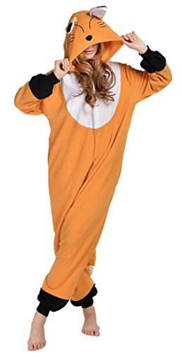 [Newcosplay Halloween Unisex Animal Sleepwear Pyjamas Cosplay Costume S Brown] (Unisex Halloween Costumes)