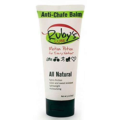 Ruby's Lube Voted Best for Triathlons and Ironmans Anti- Chaffing Chamois Cream | All Natural and Made in USA | Water & Sweat Resistant | Formulated by a 7 Time Ironman Winner - 3 oz Tube (Best Way To Stop Chafing Between Thighs)