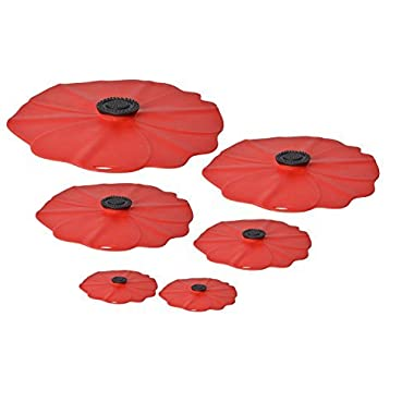 Charles Viancin Poppy Silicone Lid - Set of 6 - 11 , 9 , 8 , 6 , and two 4
