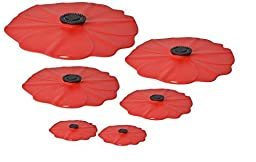Charles Viancin Poppy Silicone Lid - Set of 6 - 11\
