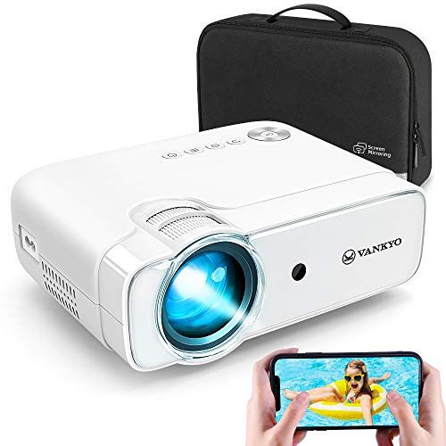 VANKYO Leisure 430W Mini Wi-Fi Projector, Full HD 1080P Supported Projector with Synchronize Smart Phone Screen, Video Portable Projector Compatible with iOS/Android Devices, Windows , TV Stick, PS4