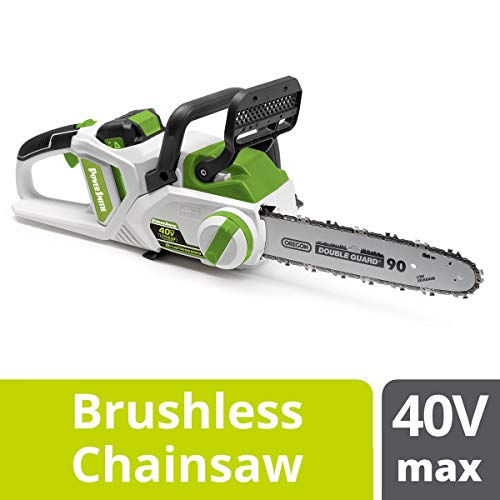 POWERSMITH PCS140H 14-Inch 40V Max Rechargeable Cordless Chainsaw – Brushless Motor- Long-Lasting, Eco-Friendly Lithium-Ion Battery Powered Chain Saw, Battery & Charger Included Review