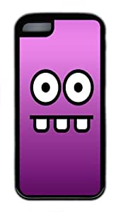 iPhone 5C Case and Cover Funny Face Slim Fit SoftGel Flexible TPU Case for iPhone 5C - Black