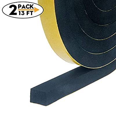 Adhesive Insulation Soundproofing Foam Tape, Weather Stripping for Doors and Window High Density Foam Seal Tape
