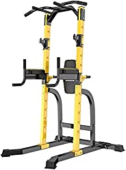 Lionness Power tower Dip Station - Steel Construction - Heavy Duty - Pull up chin up bar- Bench Press Station-