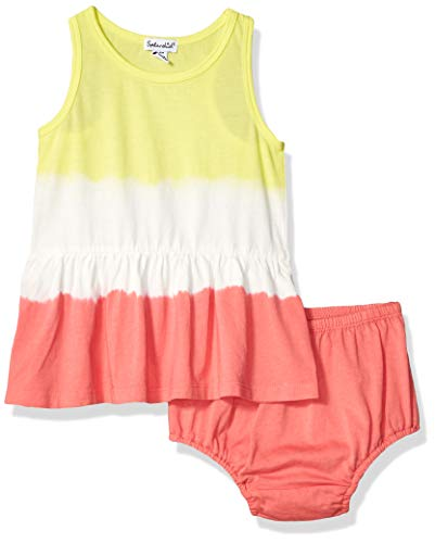 Splendid Baby Girls Double dip dye Dress Set, Optic White, 12/18 mo (Dip Set Dip Set)