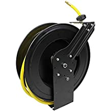Generic Auto-Rewind Retractable 50-Ft Auto-Rewind Air Hose Reel with 3/8-Inch Rubber Hose