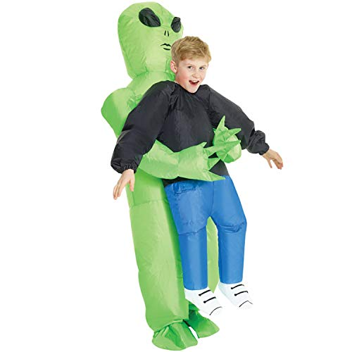 Morph KMCPIAL Boys Pick Me up Inflatable Costume, One Size, Alien Kids -