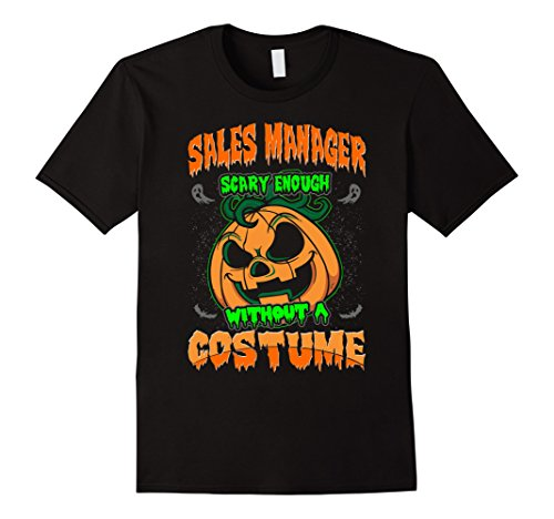 Scary Halloween Costumes For Sale (Mens Sales Manager Scary Without Costume Halloween Tshirt Medium Black)