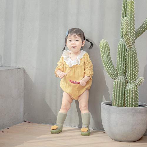 Patr/ón De Mu/ñeca Gruesa Y Antideslizante con Estrella para El Ni/ño Wovemster Calcetines De Piso para Beb/és De la Suela Mide Unos 12 Cm De Largo