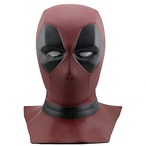 HitHopKing Deadpool Mask Cosplay Wonders, Deadpool Movie Style Cosplay Mask - (Full Head Mask, Red,) (PVC -