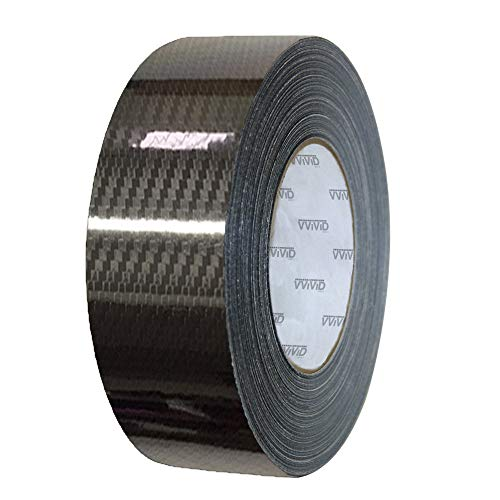 VViViD High Gloss Epoxy Black Carbon Fiber Vinyl Detailing Wrap Tape DIY Roll (3 Inch x 20ft)