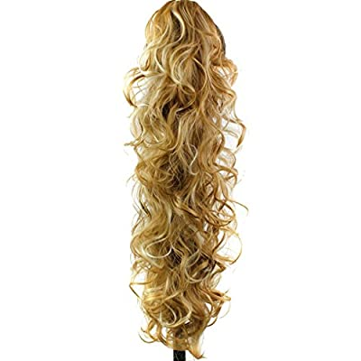 "S-ssoy 31""(78cm) Women's Curly Pony Tail Hair Piece Synthetic Claw Clip Ponytail Wavy Long Curled in Hair Extension Extensions Long/Voluminous Wig Hairpieces for Women Girls Lady"