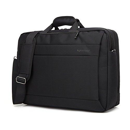Business Laptop Messenger Bag 17-17.3 Inch/Nylon Multi-compartment Briefcase/Computers Backpack Hand Shoulder Bag Tablet Case/for Men student/Fits up Office College Travel Casual (Black)…