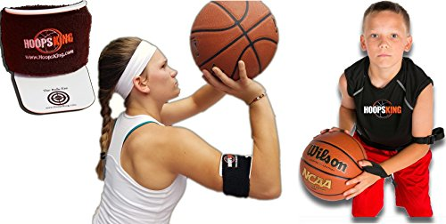 BullsEye & Perfect Jump Shot Strap Basketball Shooting Aids - Shoot the Basketball With Perfect Form - Put Your Arm Into Perfect Shooting Form - Stop Off Hand Interference w/ Strap - Products Compl