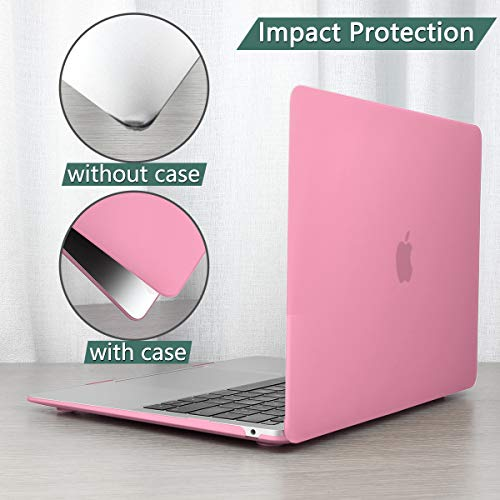 TwoL MacBook Air 13 A1932 A2179 Case, Ultra Slim Hard Shell Case and Screen Protctcor Keyboard Cover for New MacBook Air 13 inch 2018 2019 2020 Release with Retina Display Pink