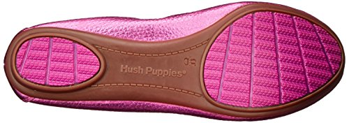 Hush Puppies Womens Chaste Ballet Flat Berry Metallic Leather