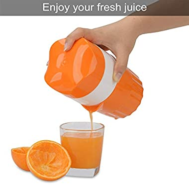 ScentRose Citrus Orange Juicer Lemon Squeezer, Manual Hand Juicer with Strainer and Container, for Lemon,Orange,Lime,Citrus(Random Color) 12