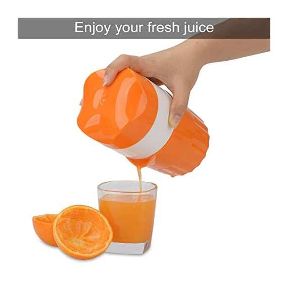 ScentRose Citrus Orange Juicer Lemon Squeezer, Manual Hand Juicer with Strainer and Container, for Lemon,Orange,Lime,Citrus(Random Color) 4