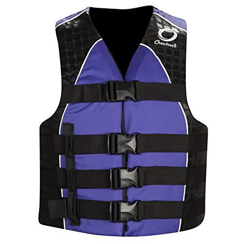 (Overton's Women's Nylon 4-Buckle Life Vest Purple (S/M))