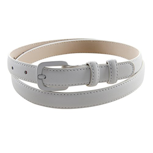Bpstar Womens Skinny Leather Belt Solid Color with Pin Buckle Simple Waist Belts by Bpstar (Image #8)