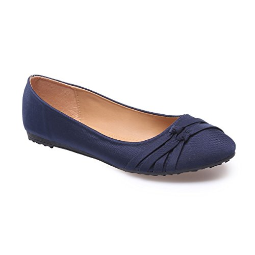 La Modeuse - Bailarinas para mujer Azul