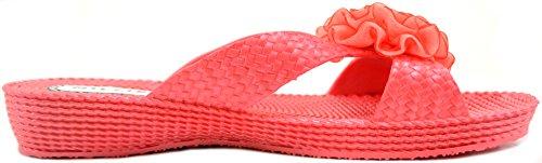 Shoes Millie Sandals Flower Summer Flops Red Womens Holiday Ladies Beach Flip qwfPS6P0