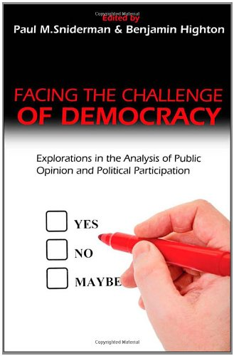 Download Facing the Challenge of Democracy: Explorations in the Analysis of Public Opinion and Political Participation PDF