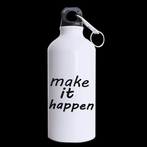 Halloween's Day Gifts Motivational Saying make it happen 100% Aluminum 13.5 OZ Sports Bottles ()