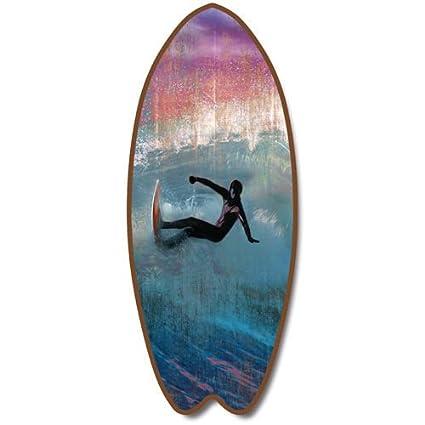 Placa de madera Tabla de surf playa colgar diez Surf las olas