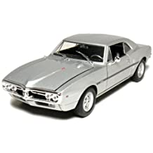 Welly 1967 Pontiac Firebird Hard Top 1/24 Scale Diecast Model Car Silver by Welly