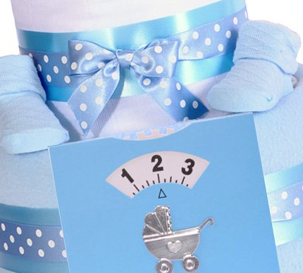 2 Tier Boys Nappy Cake, Baby Shower Gift, Blue Baby Hamper   FREE U0026 FAST  DELIVERY!: Amazon.co.uk: Baby