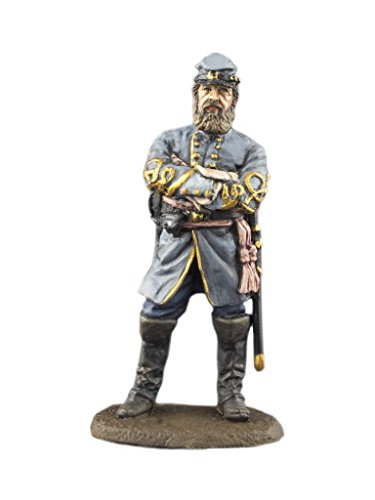 Ronin Miniatures Confederate General Thomas J Stonewall Jackson American Civil War Hand Painted Tin Metal Collection Toy Soldier Size 1/32 Scale Décor 54mm for Home Collectible Figurines ITEM - Tin Hand Painted