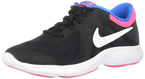 Nike Girls Revolution 4 (GS) Sneaker, Black/White - Anthracite - Hyper Punch, 3.5Y Youth US Big Kid (For Children Girls Shoes Nike)