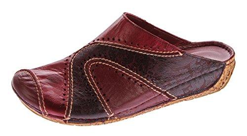 Pantofole Da Donna Gemini Scarpe Anilina Vera Pelle Zoccoli Sandali Pantofola Pantofola 36 - 42 Rosso Carmin