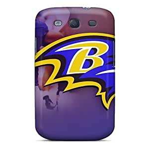 Flexible Tpu Back Cases Covers For Galaxy S3 - Baltimore Ravens by kobestar